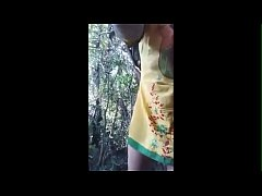 Desi bangali bhabi outdoor fuck by boyfriend with bangla audio at forest for enjoy