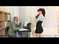 HD Babe is having wild threesome with stud and elderly teacher