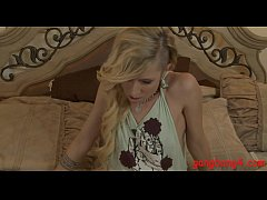 Blonde punk girl dped by big black cocks in her bedroom
