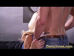 Dane Jones Sexy Hungarian blonde Monique Woods rides reverse cowgirl