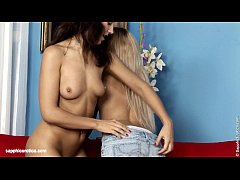 Anal lesbian fun by Sapphic Erotica with Oli and Zorah in Dual Fingering