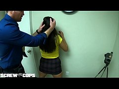 Screw the Cops - Latina bad girl gives a cop a blowjob