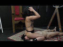 Mistress Kristina Rose Makes Her Slave Lick Her Asshole