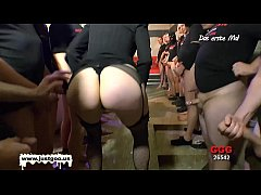 Nerdy Librarian Manu huge gangbang - German Goo Girls!