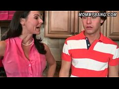 Kendra Lust and Katie Stives threesome sex in the kitchen