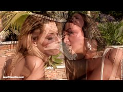 Lapping Lovers by Sapphic Erotica Klaudia and Natali finger each other near the