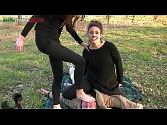 The Anna's Experiences Part 2 -Foot Worship Outdoor