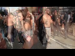 Nude in San Francisco does the Folsom Street Fair 2013