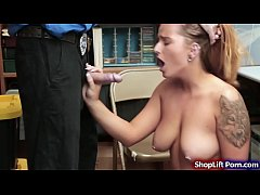 Big tits shoplifter fucked by LP officer