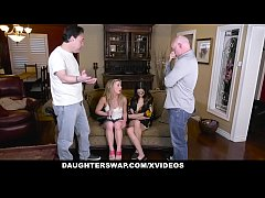 DaughterSwap - Hot Teen Hookers Fucked By Each Others Dads