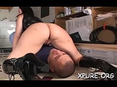 Sexy dominas take turns smothering a helpless guy