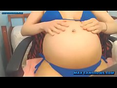 Pregnant Camgirl Flashing Huge Belly And Titties