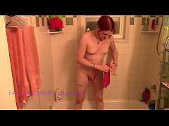TS Lycha Rose drinks a pee enema
