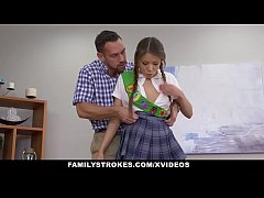 familystrokes - asian teen fucked by her stepdad