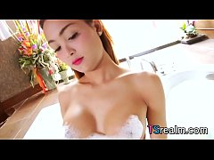 Asian TS Stunner Sammy B Pleases Herself