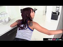 Hardcore Sex Action With Amateur Hot Real GF (gina valentina) vid-11