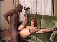 The slutty lady of the house loves to fuck with her black servant