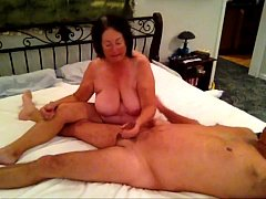 Grandma cums and blows Grandpa