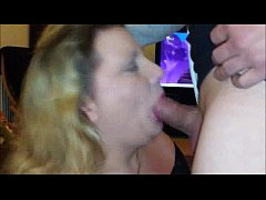 OLD BBW Swallows Hot Jizz After Blowjob