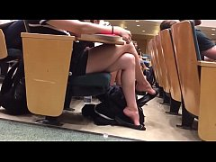 Cams4free.net - College girl's legs and feet during the class