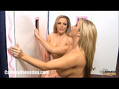 Glory Hole!! Carmen Valentina and Amber Bach!