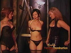 Three lusty sluts enjoy having some naughty fun with an Asian chick