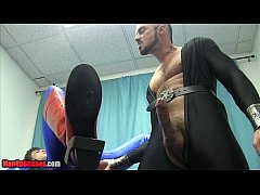 The Training of Superman BALLBUSTING CHASTITY EDGING ASS PLAY
