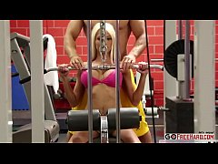 Smoking Hot Blonde Rikki Six Tastes Her Coachs Dick