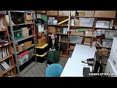 Lexi Lore was caught on CCTV concealing merchandise shoplyfter was cooperative and volunteered to strip search
