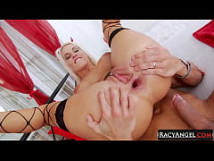 Devilish Busty Blondie Blanche Bradburry Gets Hardcore Anal 2 Mouth Sex Showing Her Gaping Butthole