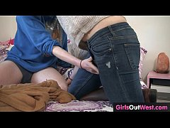 Hairy girls orgasm over and over during lesbian fuck