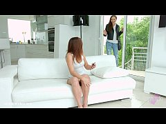 Evalina Darling and Tina Kay in a sensual lesbian scene by Sapphic Erotica