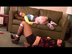 mother and daugther gagged