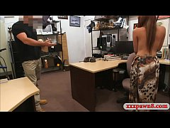 crazy latin bitch drilled by pawn keeper in his office