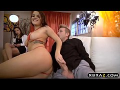Stripper Keisha Grey anal with customer while his gf watches
