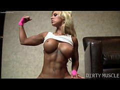 muscle barbie megan avalon is a sexy show off