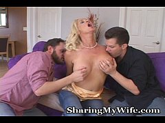 Momma MILF Double Teams 2 Guys