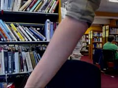 Awesome masturbation in public library - getmyCam.com