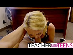 HD Teacher caught and has first time threesome with teens