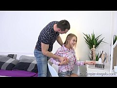 Creampie-Angels.com - Nancy A - Lad serves busy blondie
