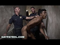 GAY PATROL - Black Suspect On The Run, Gets Deep Dick Conviction From The Law
