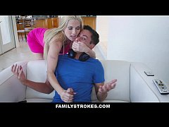FamilyStrokes - Hot Step-Mom Seduces and Fucks Young Step-Son
