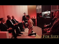 BoyForSale - Young boy's hole sampled and stretched by group of hung men