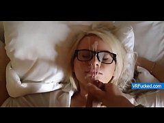 Petite Blonde Girl Loves Cum on Her Face
