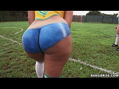 Big ass latinas playing soccer before fucking