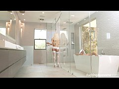 Big titted blonde Luna Star gets fucked hard in the bathroom