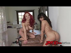 Annie Cruz and Mia Lelani Get A Kick Out Of Sharing Cock