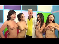 Four slutty women make a lucky guy cum - Jennifer White, Zoey Foxx & Dava Foxx