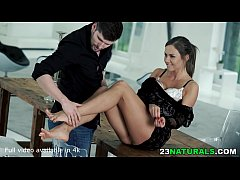 Needy Tina Kay uses her Gorgeous Toes and Feet to Seduce Kristof Cale