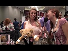 Britney Amber with TeddyLoveBear at AE Expo